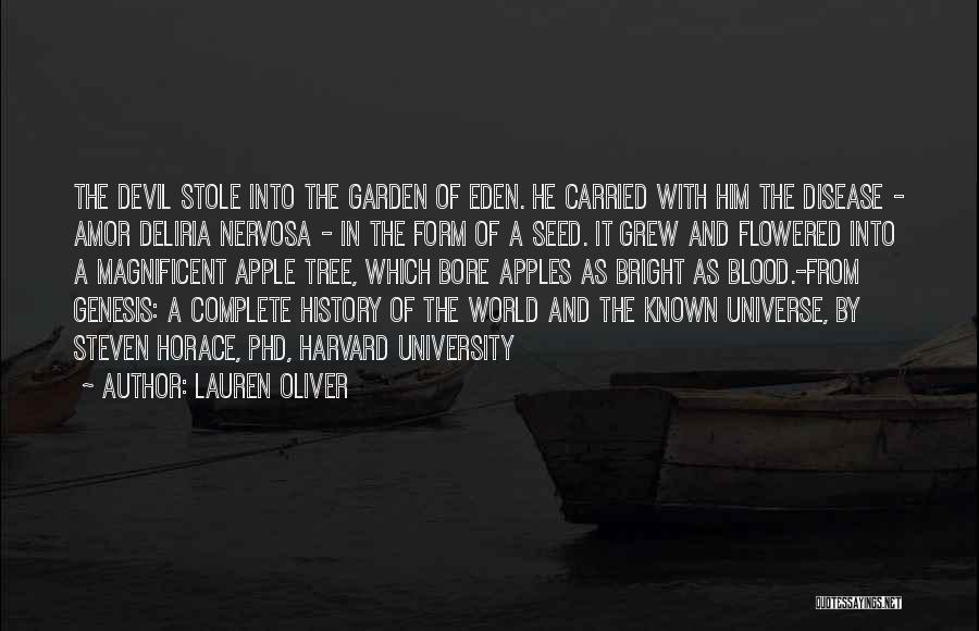 Amor Deliria Nervosa Quotes By Lauren Oliver