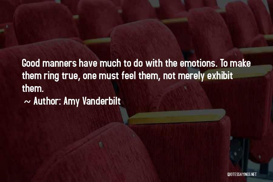Amy Vanderbilt Quotes 2073528