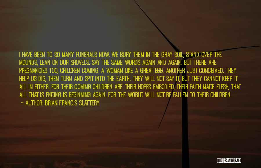 An Ending And New Beginning Quotes By Brian Francis Slattery