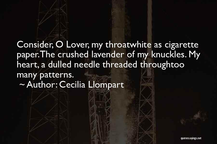 An Ex Lover Quotes By Cecilia Llompart
