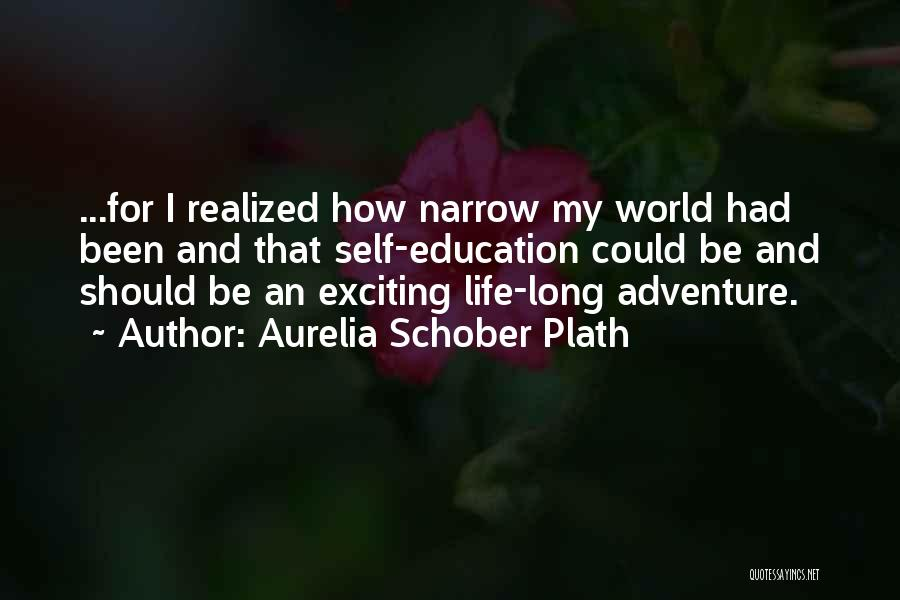 An Exciting Life Quotes By Aurelia Schober Plath