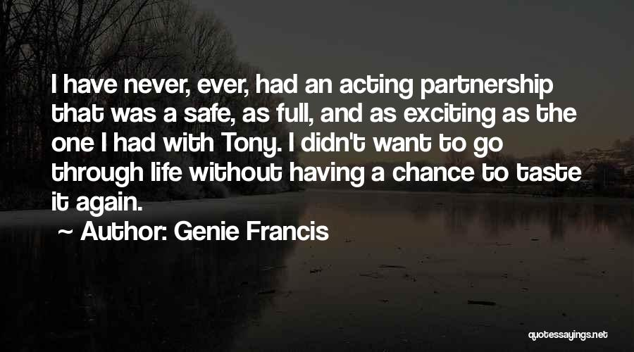 An Exciting Life Quotes By Genie Francis