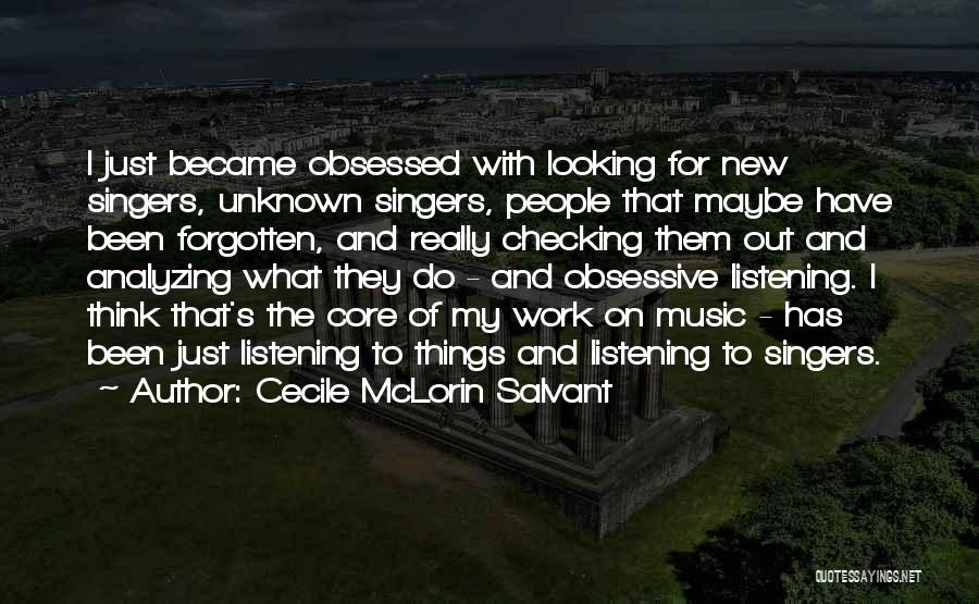 Analyzing Things Quotes By Cecile McLorin Salvant