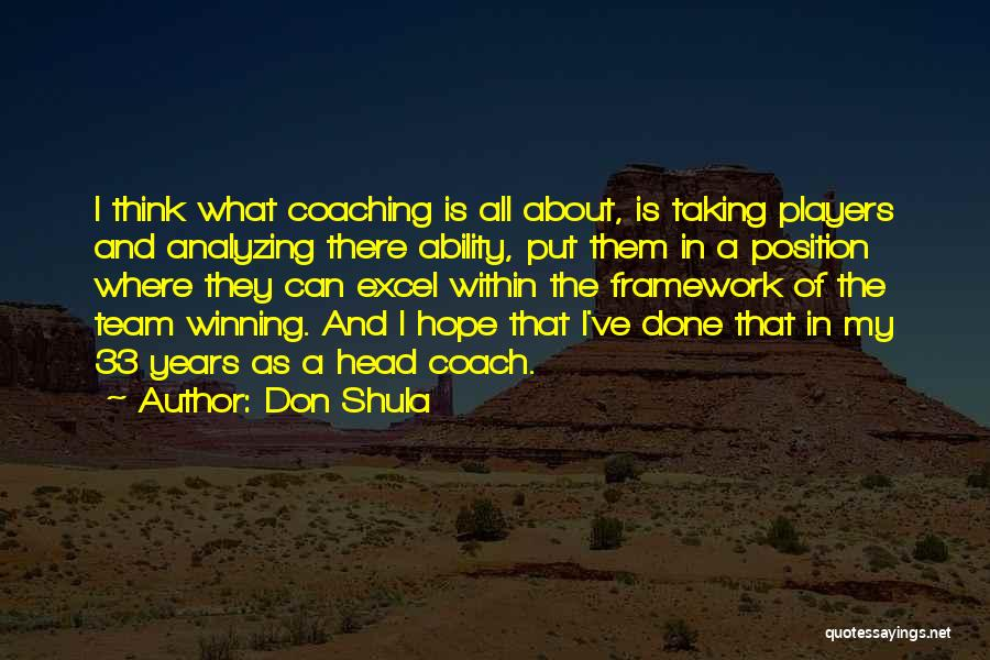 Analyzing Things Quotes By Don Shula