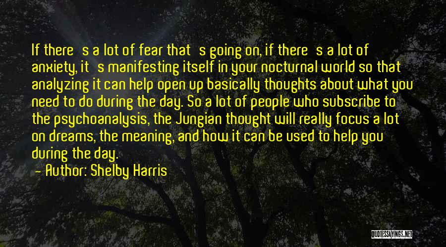 Analyzing Things Quotes By Shelby Harris