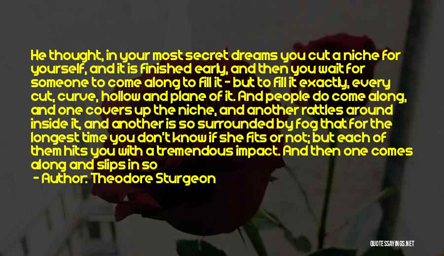 And Then Someone Comes Along Quotes By Theodore Sturgeon