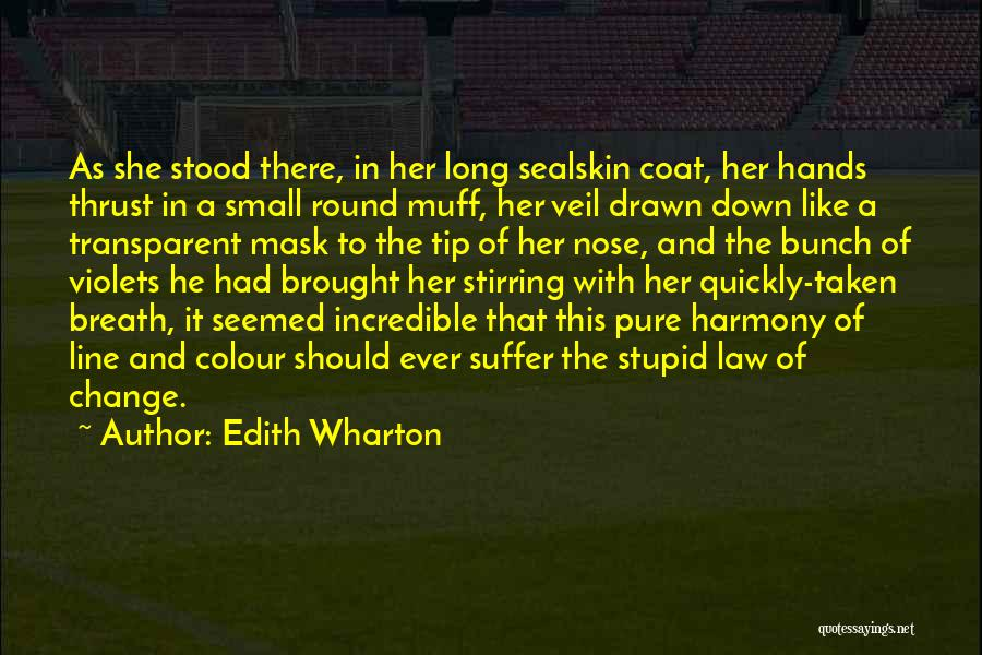 And There She Stood Quotes By Edith Wharton