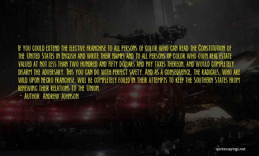 Andrew Johnson Quotes 348266