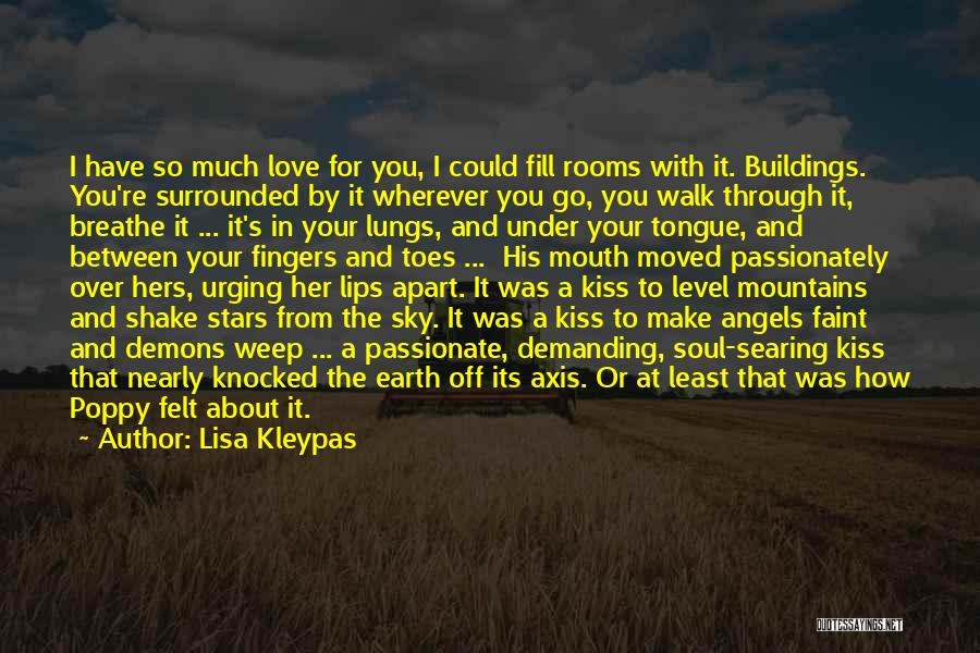 Angels And Demons Love Quotes By Lisa Kleypas