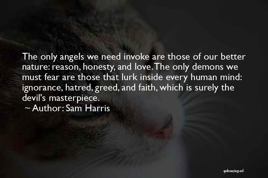 Angels And Demons Love Quotes By Sam Harris