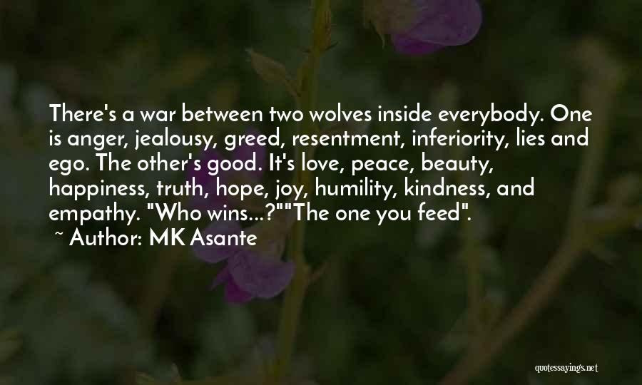 Anger And Happiness Quotes By MK Asante