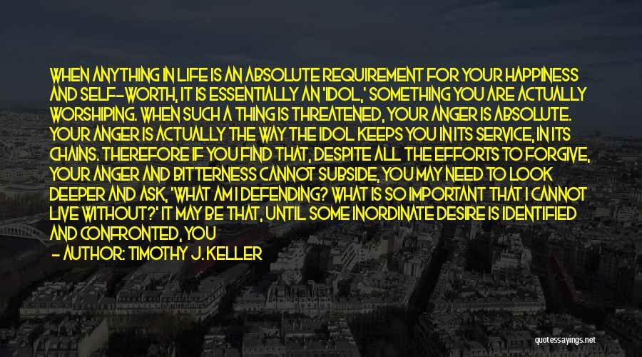 Anger And Happiness Quotes By Timothy J. Keller