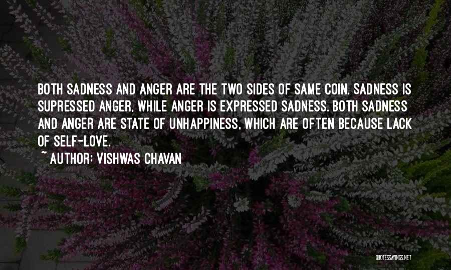 Anger And Happiness Quotes By Vishwas Chavan