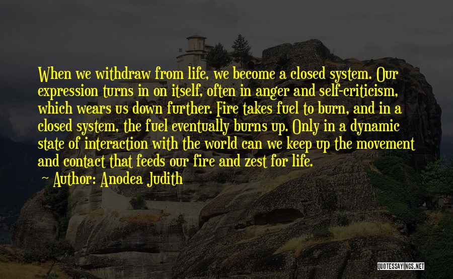 Anger Fuel Quotes By Anodea Judith