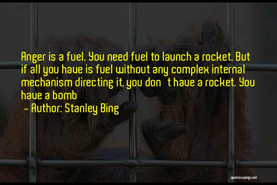 Anger Fuel Quotes By Stanley Bing
