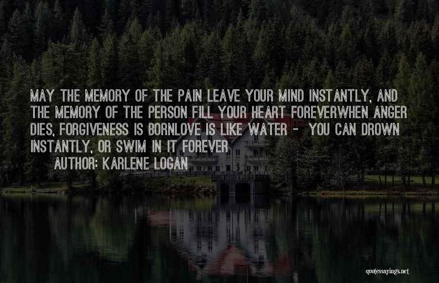 Anger In Your Heart Quotes By Karlene Logan