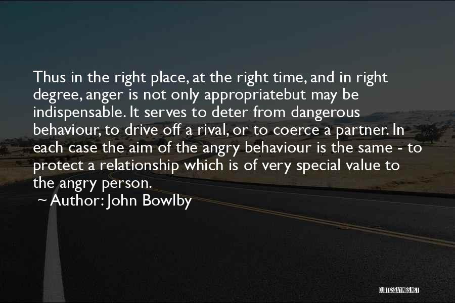 Angry Person Quotes By John Bowlby