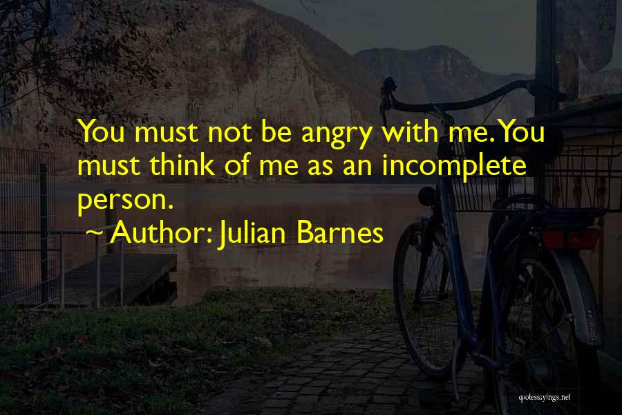 Angry Person Quotes By Julian Barnes