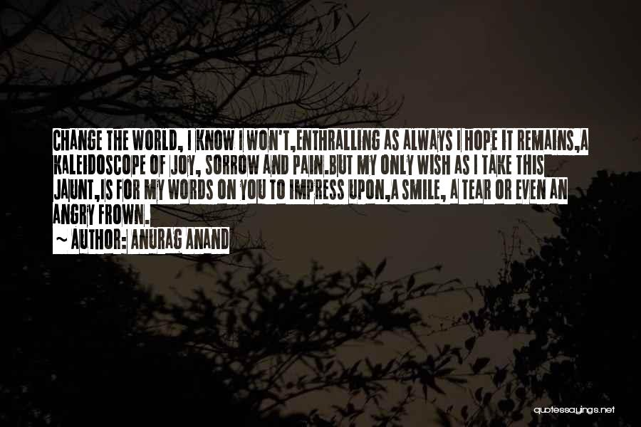 Angry Words Quotes By Anurag Anand