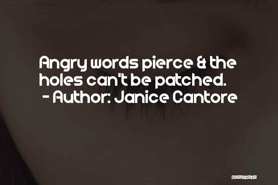 Angry Words Quotes By Janice Cantore