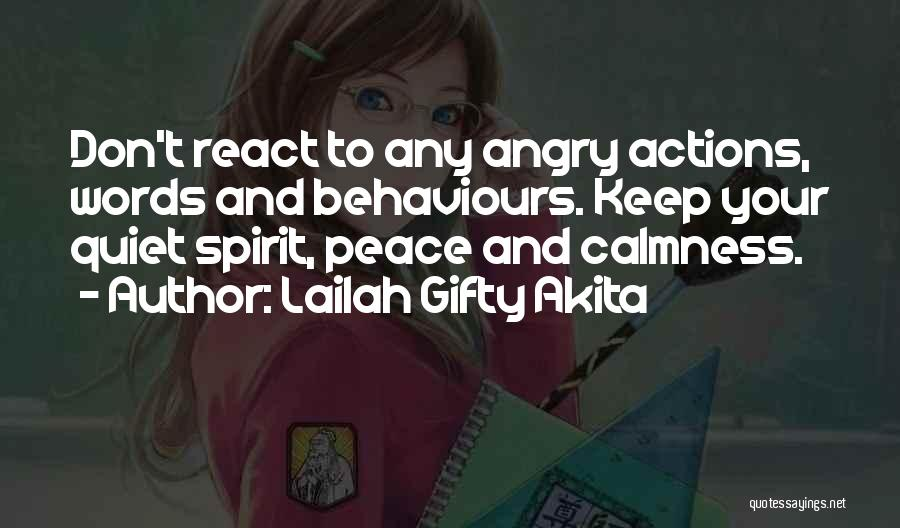 Angry Words Quotes By Lailah Gifty Akita