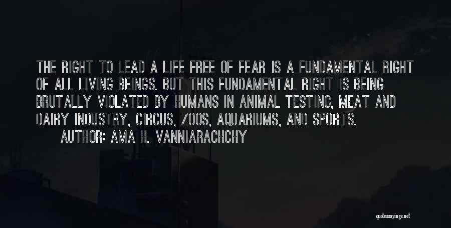 Animal Testing Quotes By Ama H. Vanniarachchy
