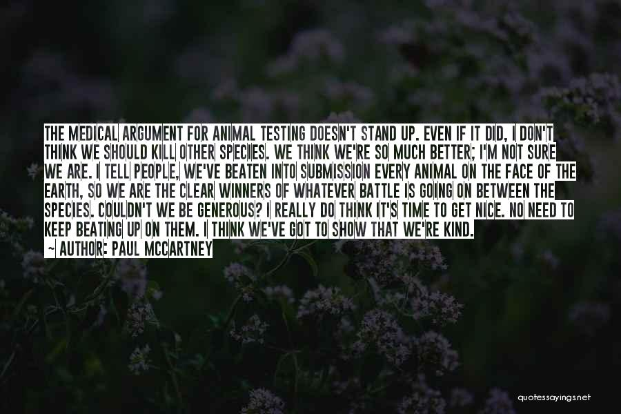 Animal Testing Quotes By Paul McCartney