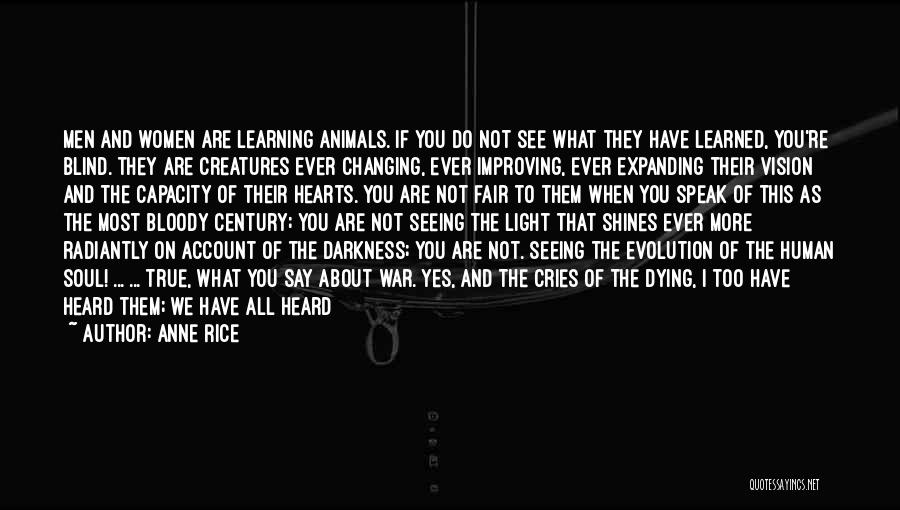 Animals Dying Quotes By Anne Rice