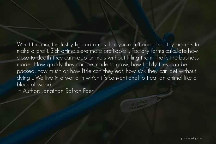 Animals Dying Quotes By Jonathan Safran Foer