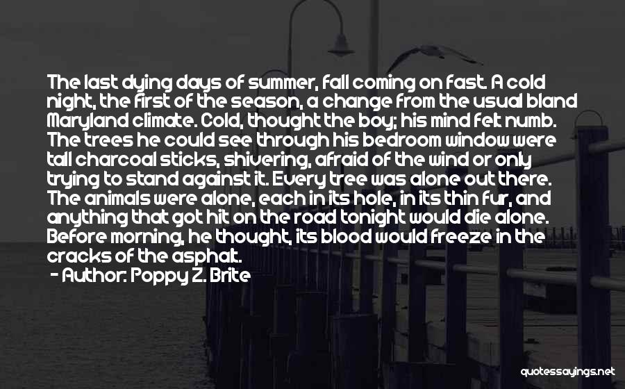 Animals Dying Quotes By Poppy Z. Brite