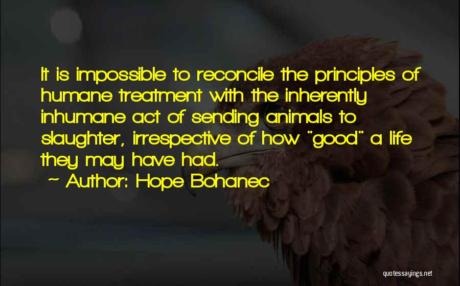 Animals Quotes By Hope Bohanec
