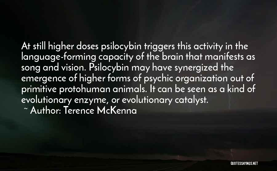 Animals Quotes By Terence McKenna