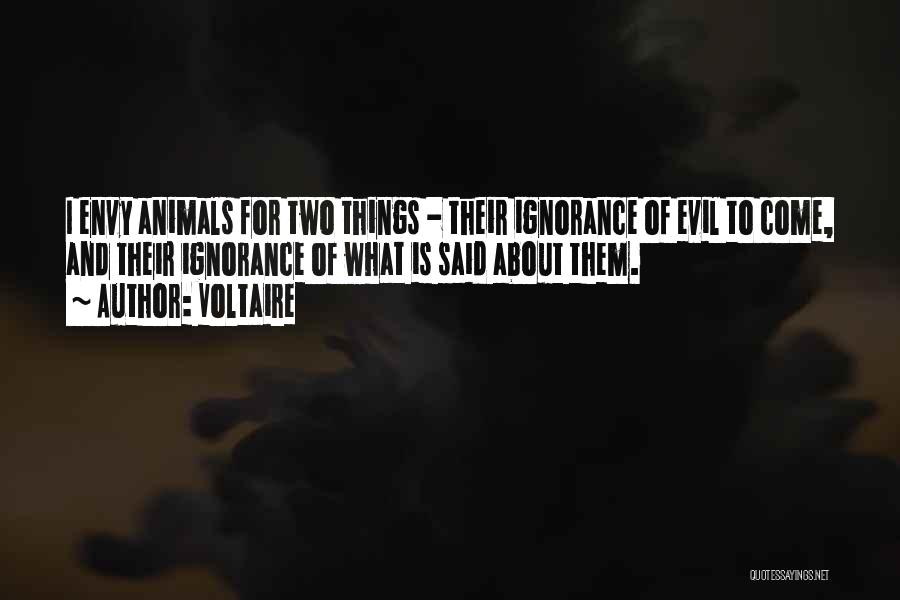 Animals Quotes By Voltaire