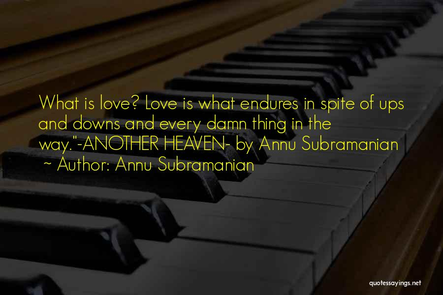 Annu Subramanian Quotes 406463