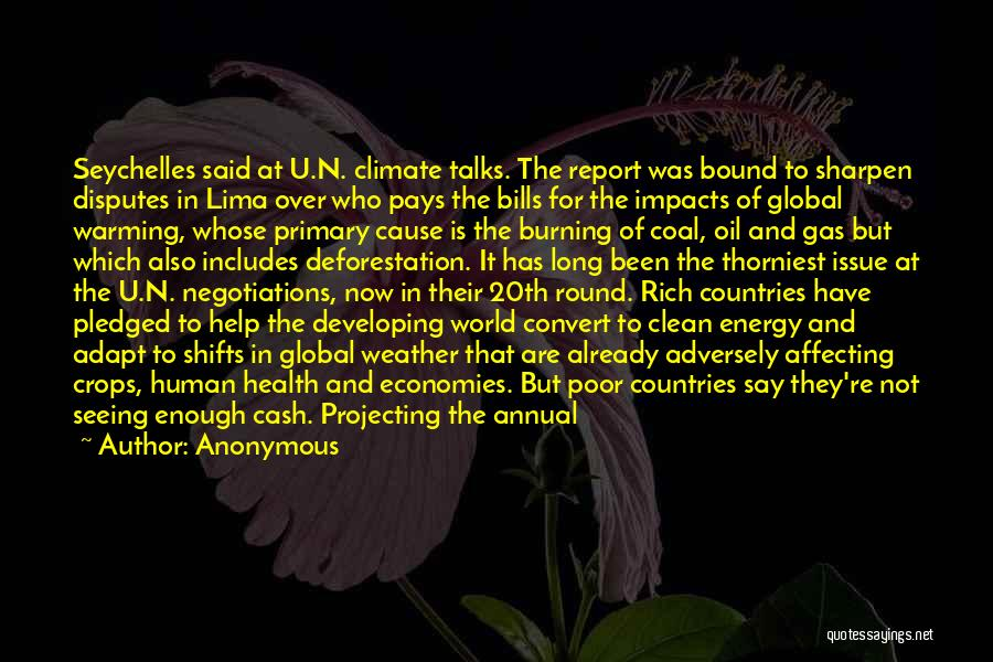 Annual Report Quotes By Anonymous