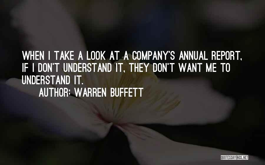Annual Report Quotes By Warren Buffett