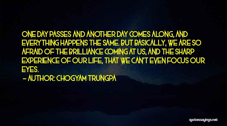 Another Day Passes Quotes By Chogyam Trungpa