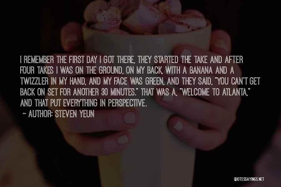 Another Day With You Quotes By Steven Yeun