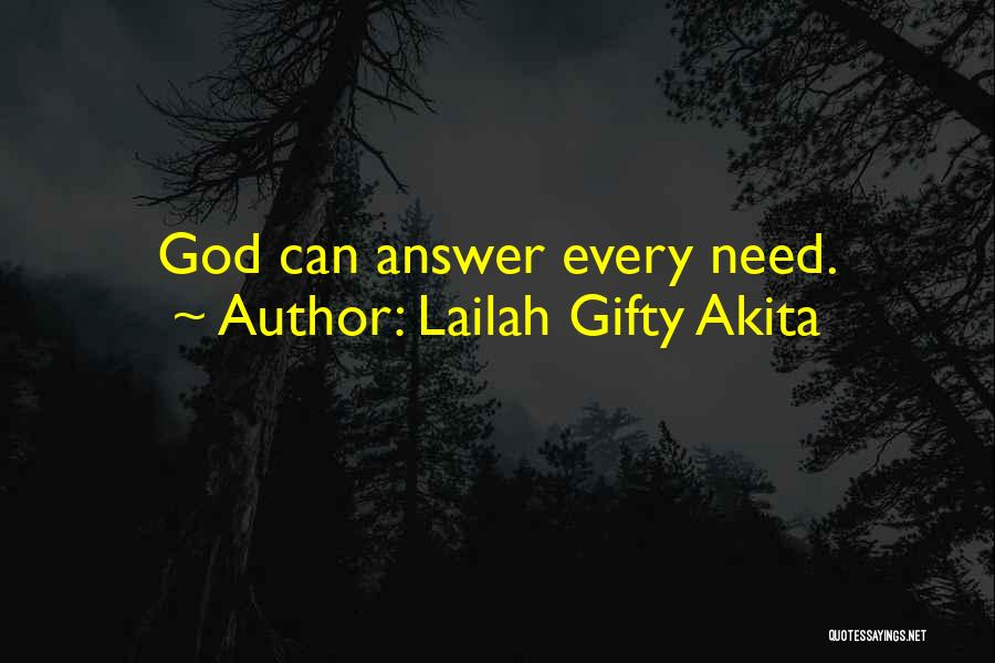 Answered Prayer Love Quotes By Lailah Gifty Akita