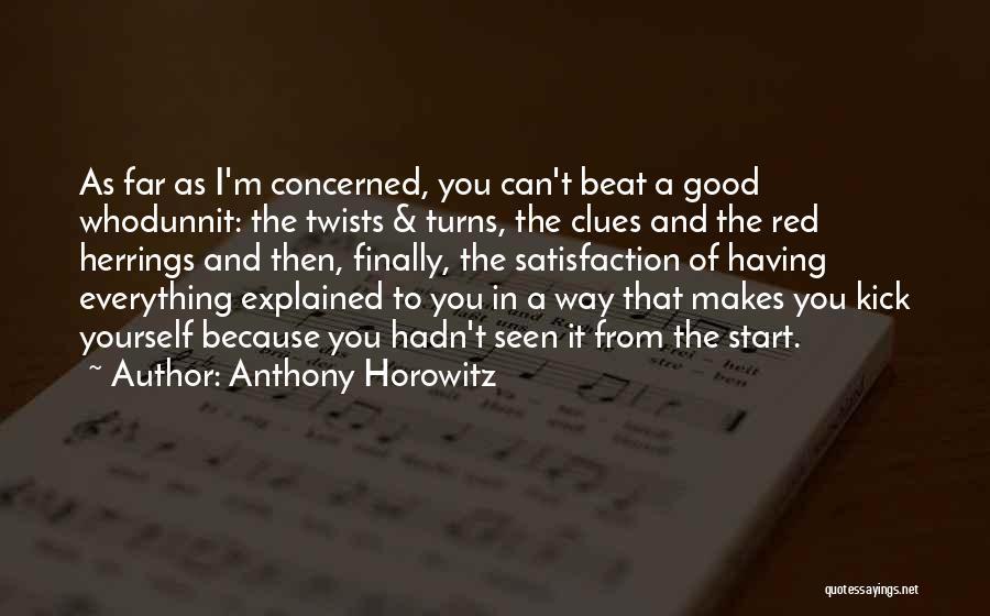 Anthony Horowitz Quotes 223979
