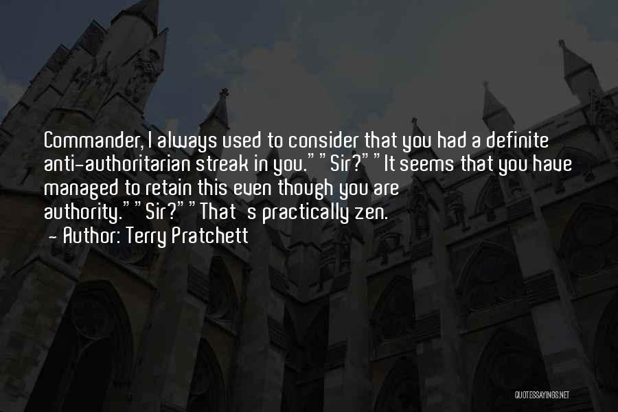 Anti Authoritarian Quotes By Terry Pratchett