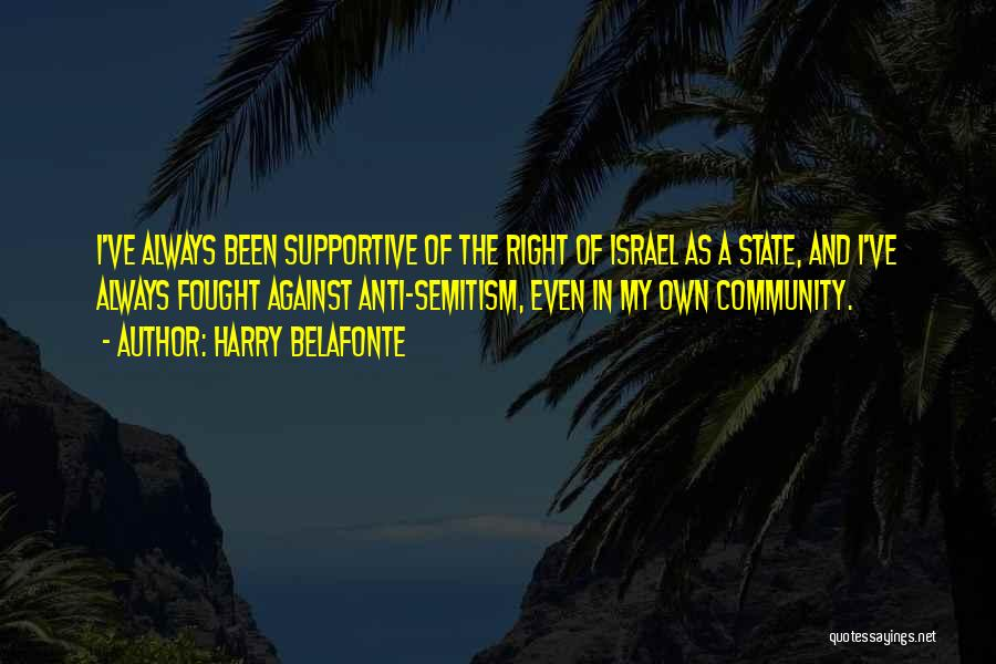 Anti State Quotes By Harry Belafonte