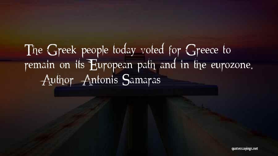 Antonis Samaras Quotes 410307