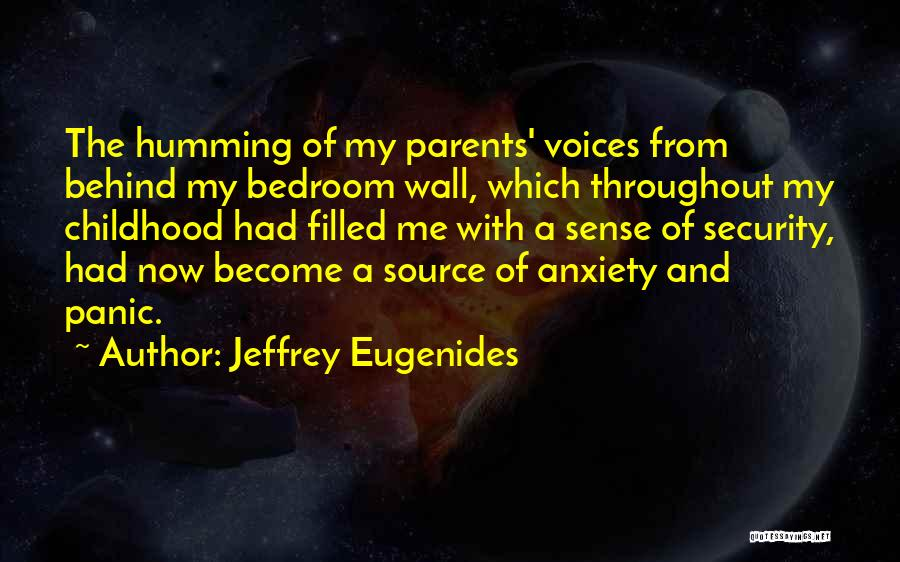 Anxiety And Panic Quotes By Jeffrey Eugenides