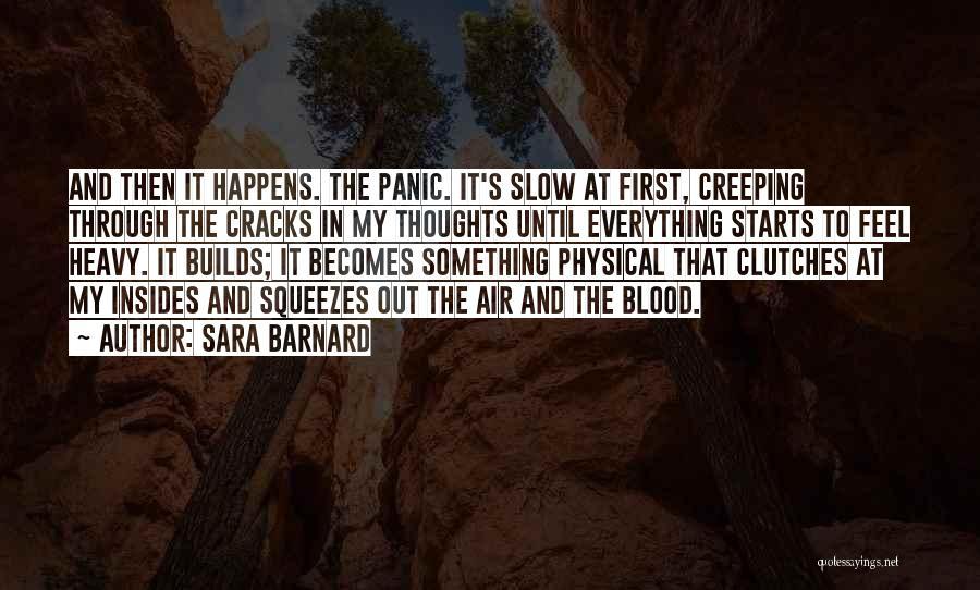Anxiety And Panic Quotes By Sara Barnard
