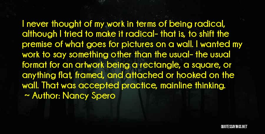 Anything Goes Quotes By Nancy Spero