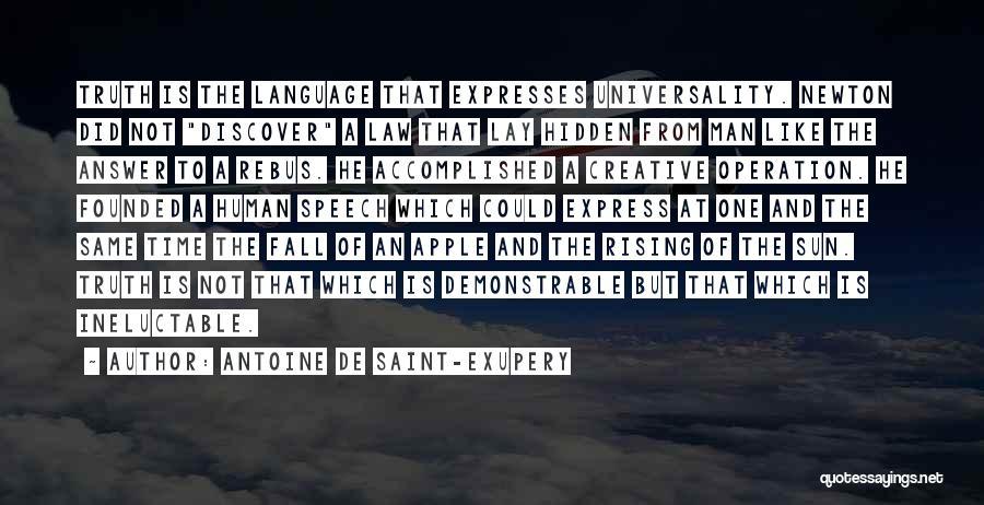 Apple Quotes By Antoine De Saint-Exupery