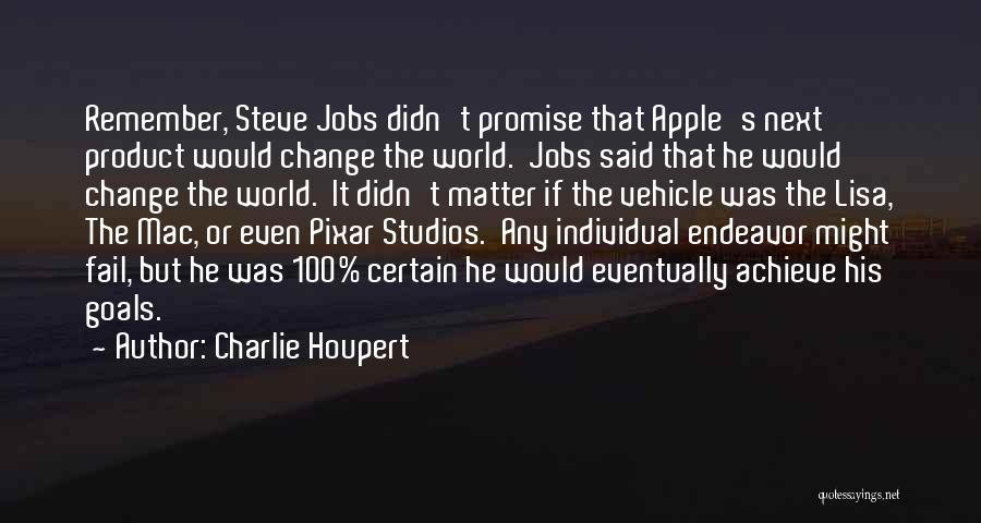 Apple Quotes By Charlie Houpert