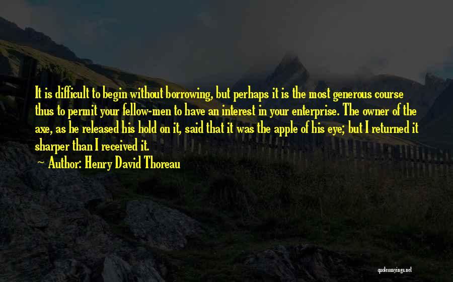 Apple Quotes By Henry David Thoreau
