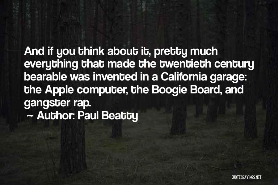 Apple Quotes By Paul Beatty